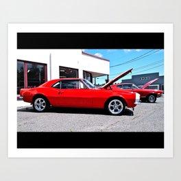 Classic American cars Art Print