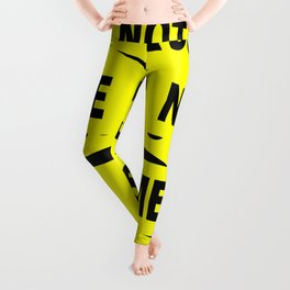 Crime Scene Tape Leggings
