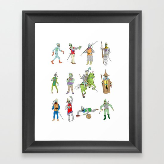Knights of the Living Dead Framed Art Print