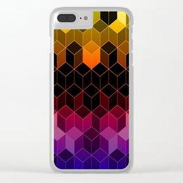 Rainbow Cubes Clear iPhone Case