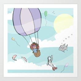 I dreamt I was flying Art Print
