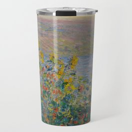 Flower Beds at Vétheuil, Claude Monet Travel Mug