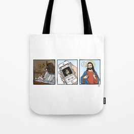 The Exorcist on Tinder Tote Bag