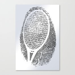 Fingerprint of a player Canvas Print