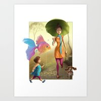 Pet Love Art Print