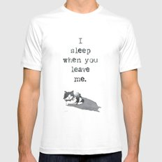 I Sleep When MEDIUM Mens Fitted Tee White