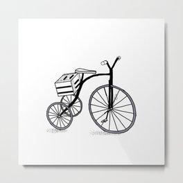 Bike on 3 wheels Metal Print