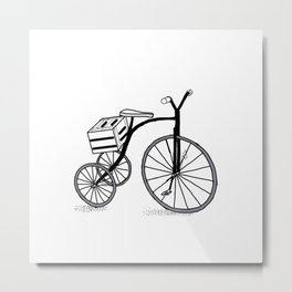 Bike on 3 wheels Metal Print