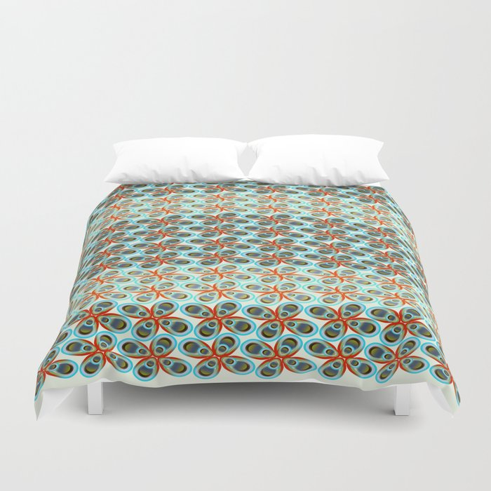 Westworks in Oysters and Pearls Duvet Cover