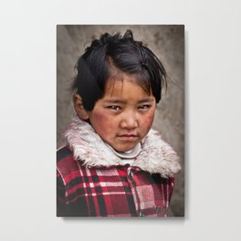 Young Nepalese Girl  Metal Print