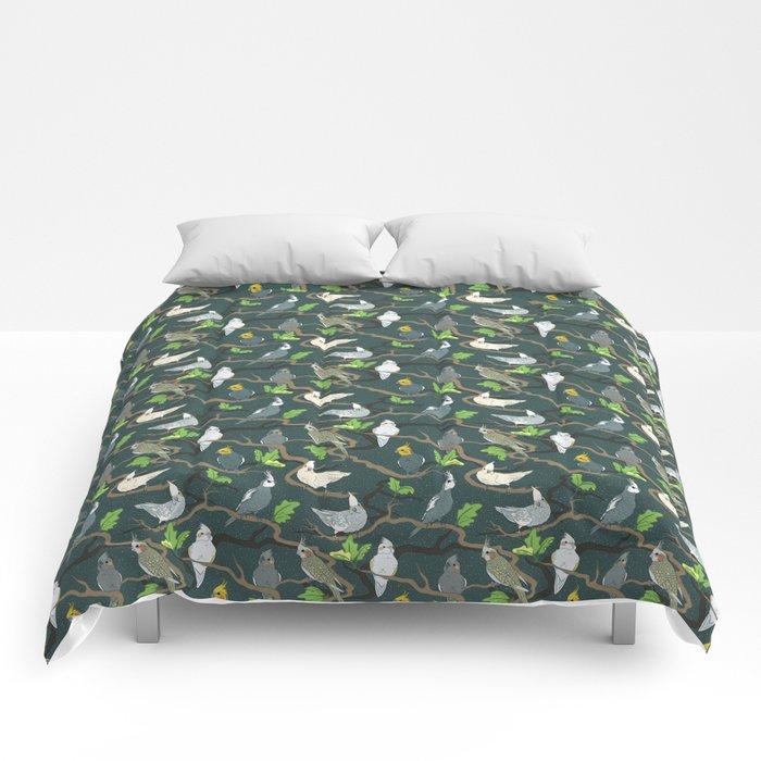 Cockatiel Forest Comforters