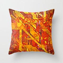 Dots and Diagonals Throw Pillow