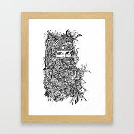 Unspoken words Framed Art Print