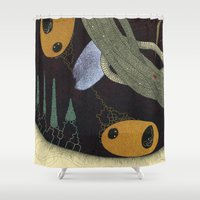 medicine Shower Curtains featuring take your medicine by thefleafarm (Amy Wright)