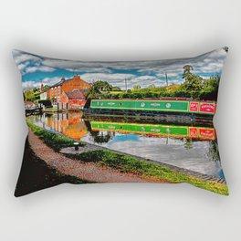 Braunston Lock No3 Northamptonshire Rectangular Pillow