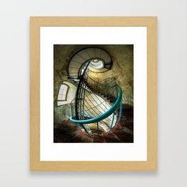 Inside the old lighthouse Framed Art Print