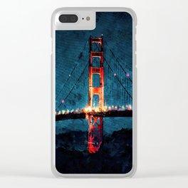 Digital Painting - San Francisco Bridge Clear iPhone Case