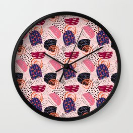 Abstract Shapes Wall Clock
