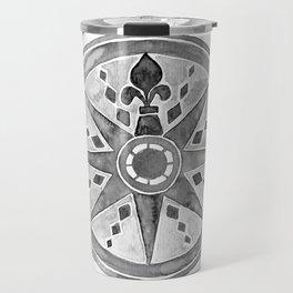 Watercolor Compass gray Travel Mug