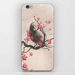 Cherry Blossom Raven iPhone Skin