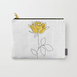 Lemon Rose Carry-All Pouch