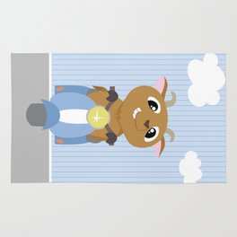 Mobil series scooters goat Rug