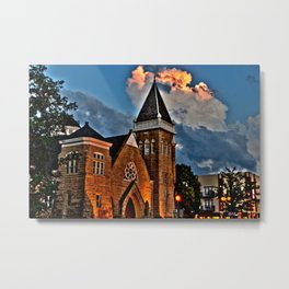 Clouds on Fire Metal Print