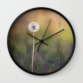 Lonely Dandelion Wall Clock