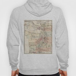 Vintage Map of The Puget Sound (1891) Hoody