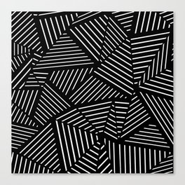 Ab Linear Zoom Black Canvas Print
