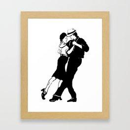Tangotänzer,Tango dancers Framed Art Print