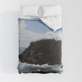 Scenic Coastal Views From the Trail Comforters