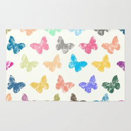 Colorful butterflies Rug