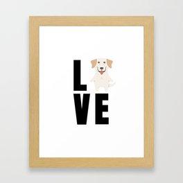 Love Labrador Retriever Cute Labrador Gift Idea Framed Art Print