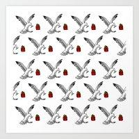 Seagull Pattern Art Print