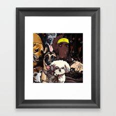 Dogs. Framed Art Print