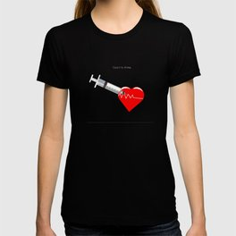 Shot to the heart - Pulp fiction Overdose Needle Scene needle for injection  T-shirt