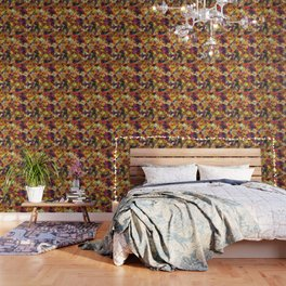 V15 Lovely Traditional Moroccan Pattern Colored Design Waves. Wallpaper