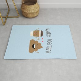 Always Together, Cute, Funny, Quote Rug
