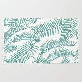 Palm Leaf Pattern Island Paradise Rug