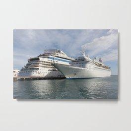 AIDAluna and MV Boudicca Cruise Ships Metal Print