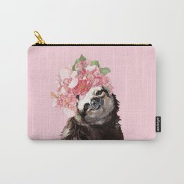 Sloth with Flower Crown Carry-All Pouch