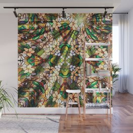 Flower Forest Abstract Wall Mural