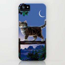 "Mosky Cat ""Night walk"" iPhone Case"