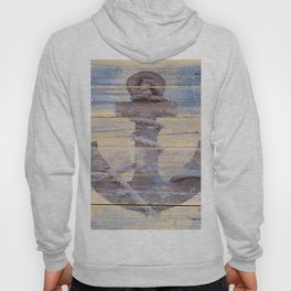 Rusty Anchor Grey Blue Beach Lake House Coastal Home Decor A177 Hoody