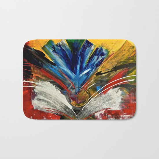 Focus Finish - colorful abstract painting Bath Mat