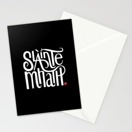 Slainte Mhath on black Stationery Cards