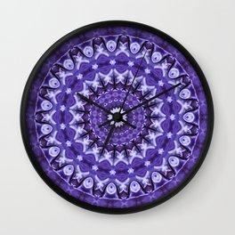 Kaleidoscope Purple Silk Wall Clock