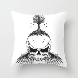 The Fall of Earth Throw Pillow