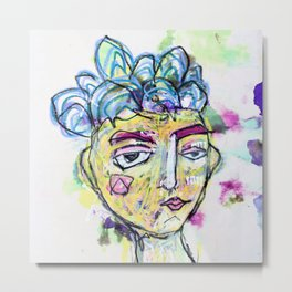 She is imperfect, but she tries Metal Print